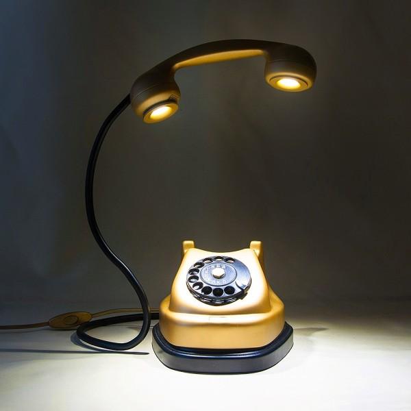 Дизайнерская Электрическая Настольная Лампа Светильник «Телефонный Аппарат».