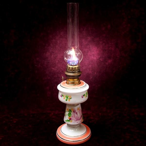 Керосиновая Лампа «Роза» Стекло Роспись A. & P. Gaudard, Morbier, Франция, начало ХХ века.