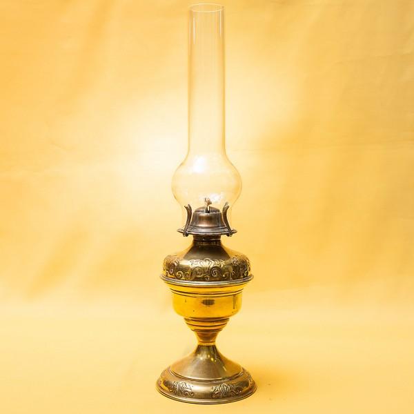 Винтажная Керосиновая Лампа Salonbrenner, Латунь Brendel Loewig, Berlin Германия, начало ХХ века.