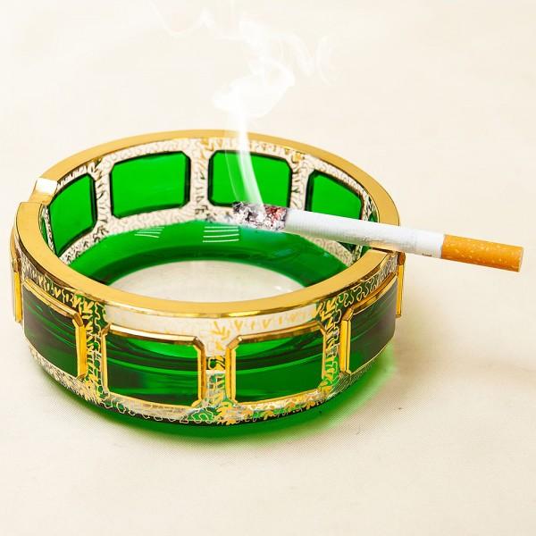 Винтажная Пепельница «Зелёный Изумруд», Хрусталь ERNST WITTIG, Германия середина ХХ века.