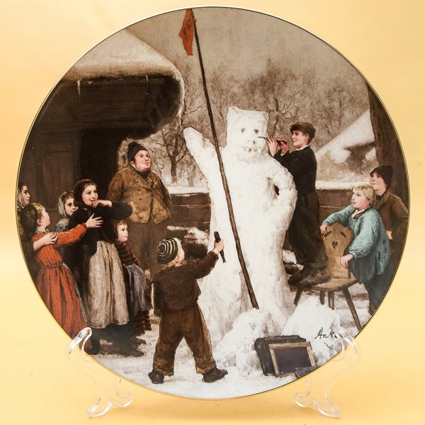 Коллекционная Тарелка «Снеговик» Фарфор, Suisse Langenthal, Швейцария -1987 год.