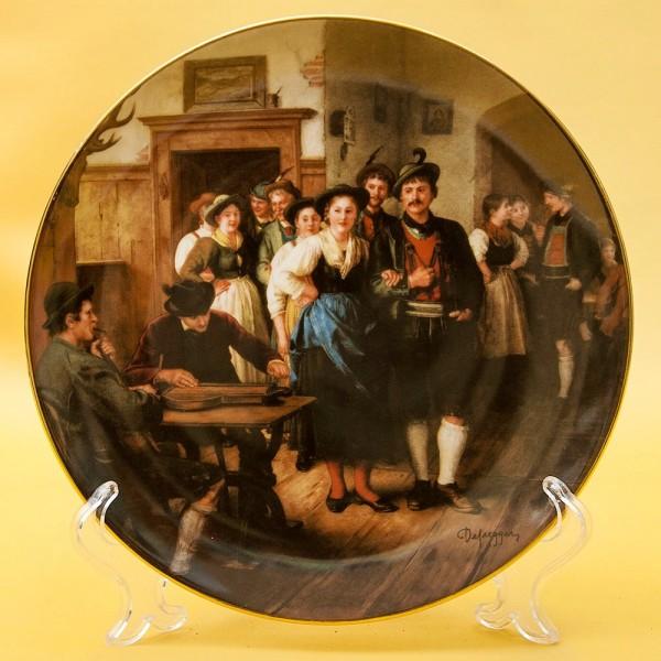 Коллекционная Тарелка «ТАНЦЫ» Фарфор, Lilien Porzallan, Австрия -1989 год.