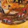 Коллекционная Тарелка «Осень - Охота - Кабаны» Фарфор, ROYAL WORCHESTER, Англия.