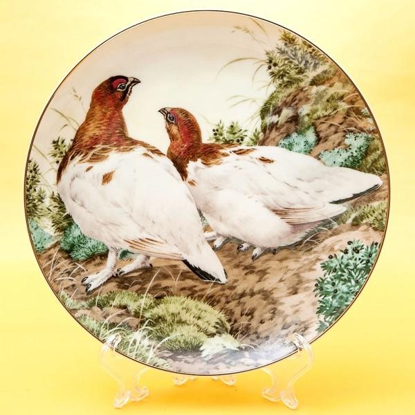 Коллекционная Тарелка «Лесной Год - НОЯБРЬ» Фарфор, Studio Fine Porcelaine Англия -1983 год.