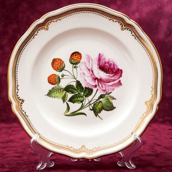 Коллекционная Тарелка - Блюдо «Роза и Клубника» Фарфор, SPODE Англия 70-е годы ХХ века..