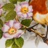 Коллекционная Тарелка «Дрозд в шиповнике» Фарфор,  Edwards&Lockett Ltd., Англия 80-е годы ХХ века..