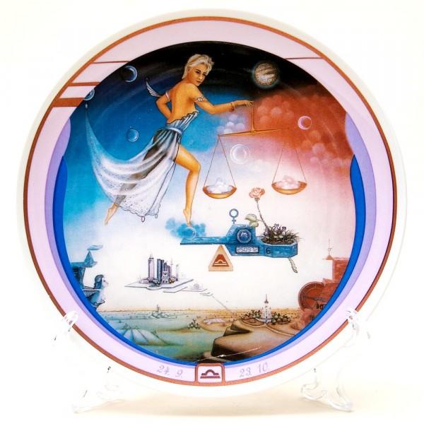 Коллекционная Тарелка - Блюдо «ВЕСЫ» Фарфор, IVO Atelier, Германия -1991 год.