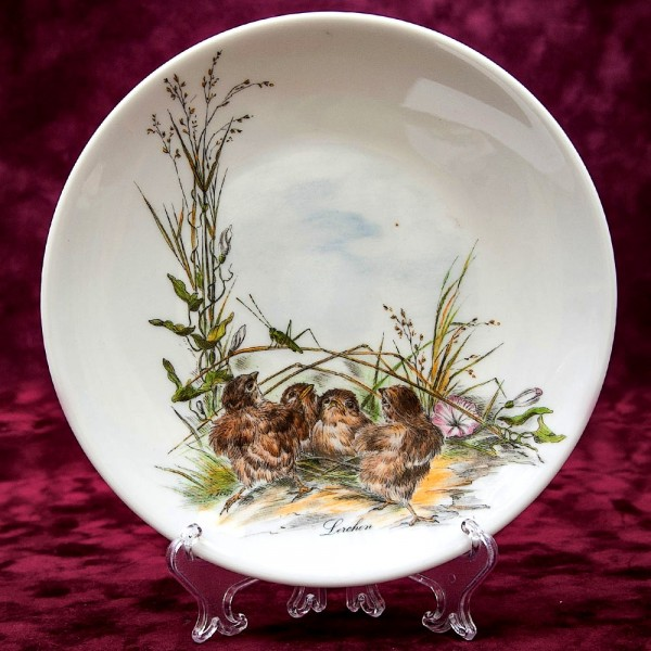 Коллекционная Тарелка «Маленькие Жаворонки» Фарфор Johann Seltmann Vohenstrauss Германия.