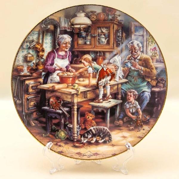 Коллекционная Тарелка «ПИРОГ» Фарфор, Weimar Porzellan Германия -1993 год.