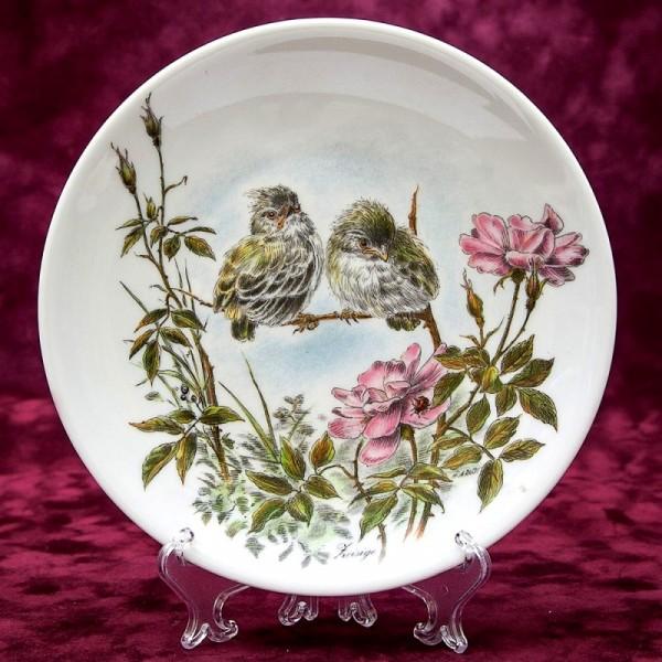 Коллекционная Тарелка «Маленькие Чижи» Фарфор Johann Seltmann Vohenstrauss Германия.