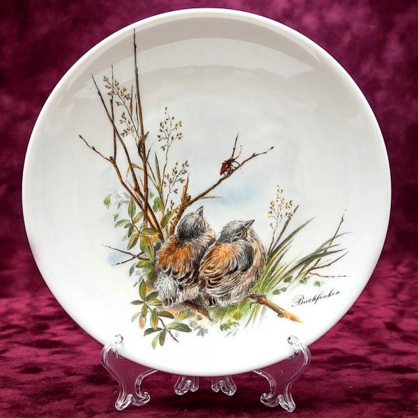 Коллекционная Тарелка «Маленькие Зяблики» Фарфор Johann Seltmann Vohenstrauss Германия.