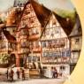 Коллекционная Тарелка «Городская улица» Фарфор VOHENSTRAUSS, Германия -1989 год.