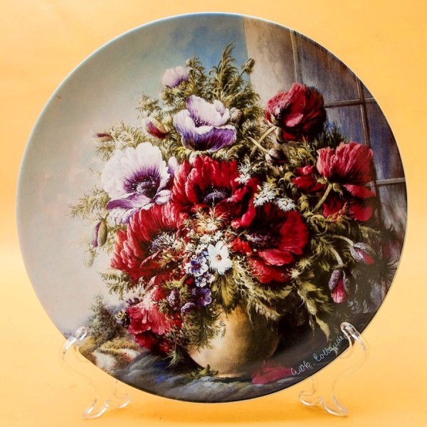 Коллекционная Тарелка «Цветы на окне - Страсть» Фарфор, Розенталь Rosenthal Германия -1991 год.