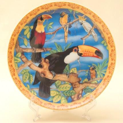 Коллекционная Тарелка «Птицы мира - ТУКАНЫ», Фарфор KAISER Porzellan Германия -1990 год.