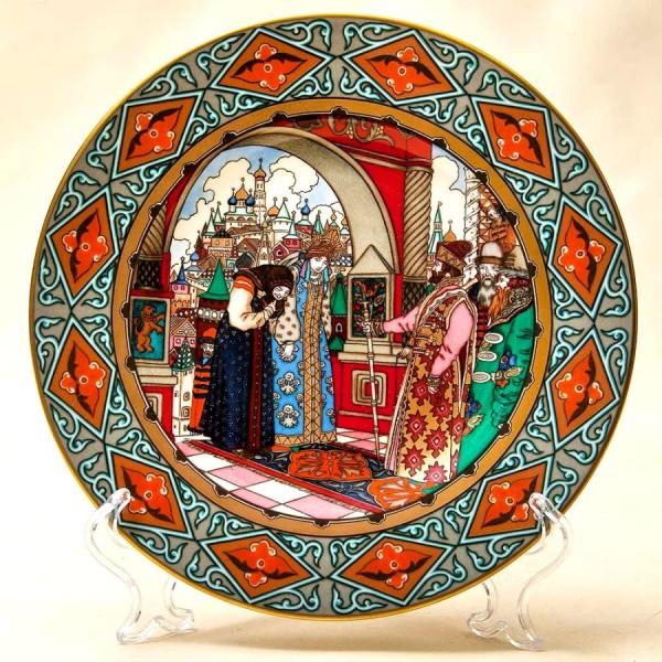 Коллекционная Тарелка «Русские Сказки» - «Василиса Прекрасная» Фарфор, Villeroy&Boch Германия -1990 год.
