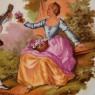 Коллекционная Тарелка «Дама с Кавалером» Фарфор, Лимож (Limoges) Франция, середина ХХ века.