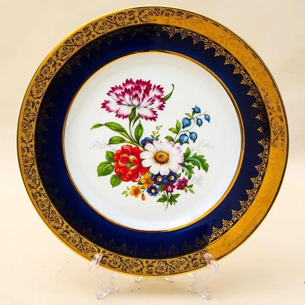 Коллекционная Тарелка «Летний Букет» Фарфор, Лимож (Limoges) Франция, середина ХХ века.