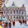 Коллекционная Тарелка «Париж - ГРАНД ОПЕРА» Фарфор, Лимож, Limoges, Франция.