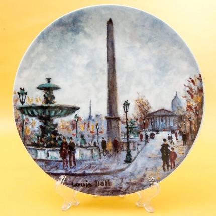 Коллекционная Тарелка «Париж - Площадь Согласия» Фарфор, Лимож, Limoges, Франция.