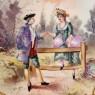 Антикварное Коллекционное Блюдо - Тарелка «Препятствие» Франция, Limoges начало ХХ века.