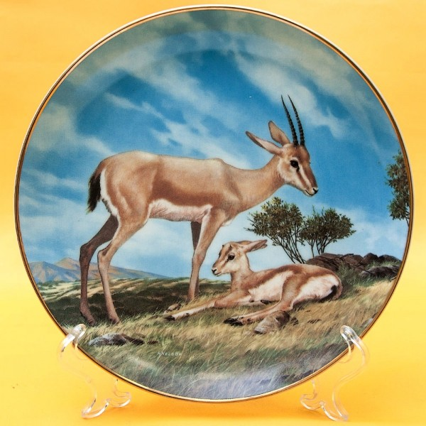 Коллекционная Тарелка Охота - «Песчаная Газель», Фарфор W.J.GEORGE США -1990 год.