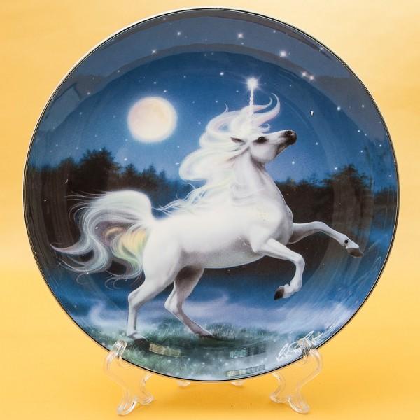 Коллекционная Тарелка «Бриллиантовый Единорог» Фарфор США, The FRANKLIN MINT -80-е годы ХХ века.