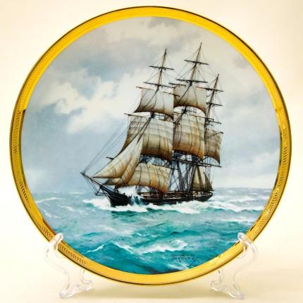 Коллекционная Тарелка «Парусные Корабли - SOVEREIGN OF THE SEAS» Фарфор США, The FRANKLIN MINT -1987г.