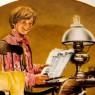 Коллекционная Тарелка «Папа скоро придет»  Фарфор Knowles США -1982 год.