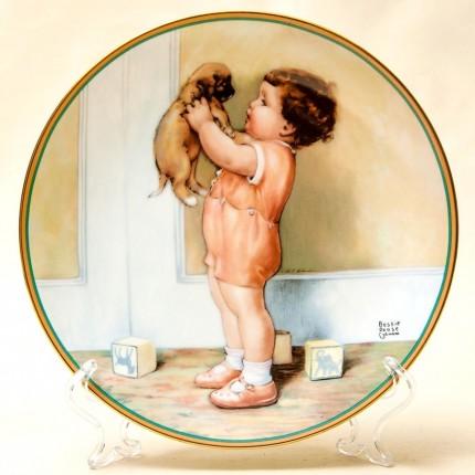 Коллекционная Тарелка «Мой дружок»  Фарфор, The Hamilton Collection США -1986 год.