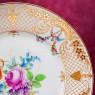 Коллекционная Тарелка - Блюдо «Летний букет с золотом» Фарфор, Розенталь Rosenthal Германия.