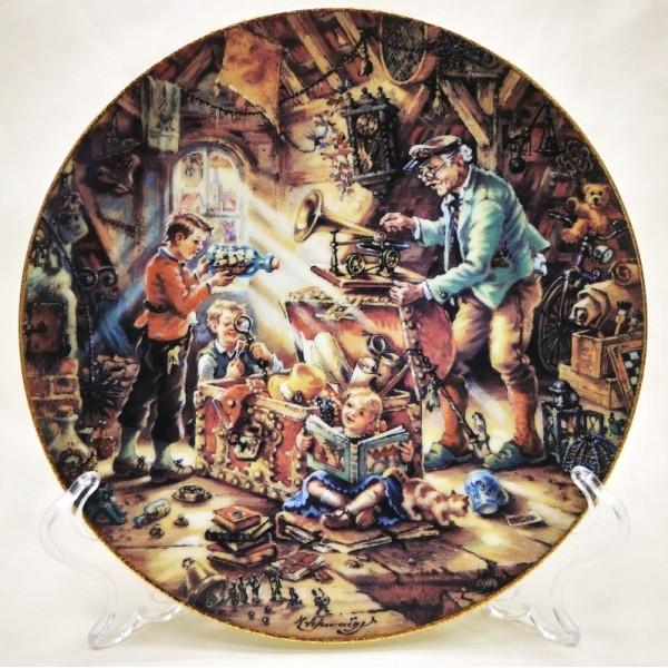 Коллекционная Тарелка «Дедушкины сокровища» Фарфор, Weimar Porzellan Германия -1994 год.