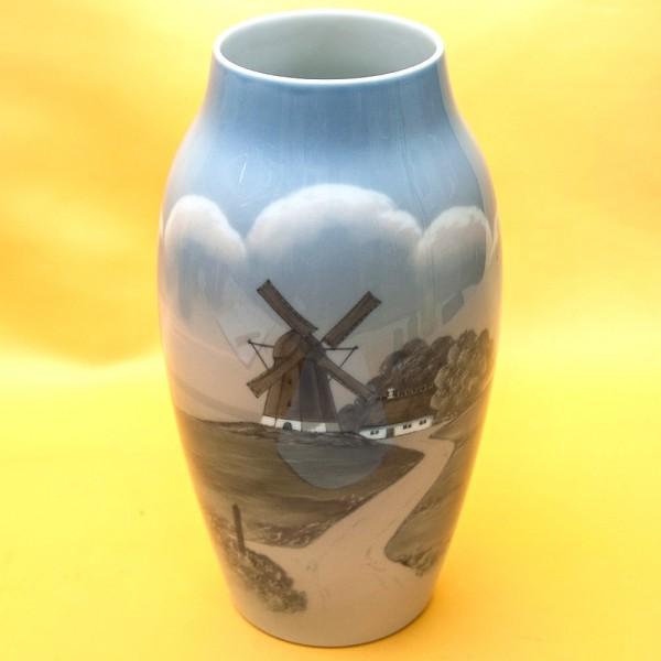 Коллекционная  Фарфоровая Ваза «Мельница», B&G Copenhagen Porcelain, Дания - 1962-1970гг.