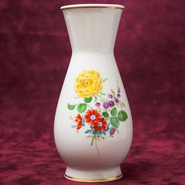 Коллекционная Ваза «Цветочный Букет» Н -17 см., Фарфор MEISSEN / МЕЙСЕН, Германия.