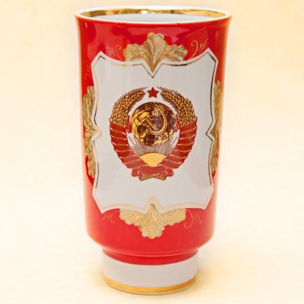 Редкая Ваза! Агитационая Наградная Ваза «60 лет СССР», Фарфор Дулево -1982 год.