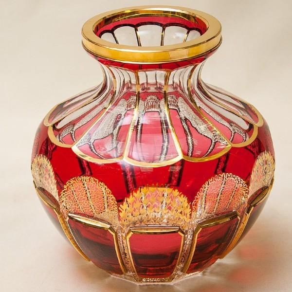 Коллекционная Ваза «Рубиновый Хрусталь», ERNST WITTIG, Германия 50-е годы ХХ века.