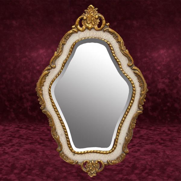Зеркало Настенное Фигурное в Деревянной раме Франция 80 см. х 53 см.