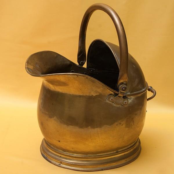 Старинный Большой Латунный Зольник - Ведро для Угля. Англия начало ХХ века.