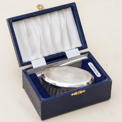 Винтажный Дорожный Набор для Джентльмена, Angora Silver Plate Co.Бирмингем Англия, 50-е годы ХХ века.