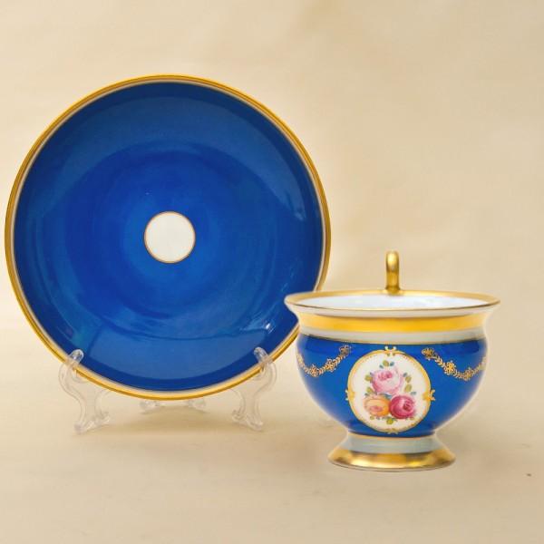 Коллекционная Чайная пара «Королевская Роскошь» Furstenberg, Германия первая половина ХХ века.