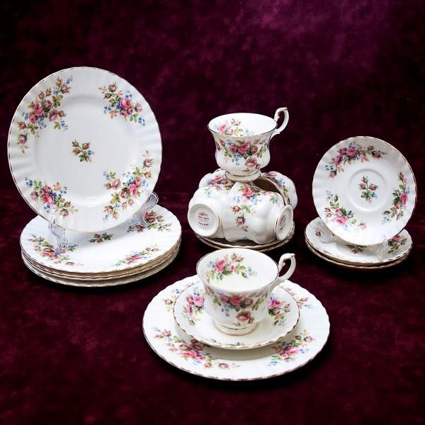 Чайный сервиз «Мускусная розана» на 6 персон, 18-ть предметов Фарфор ROYAL ALBERT, Англия.