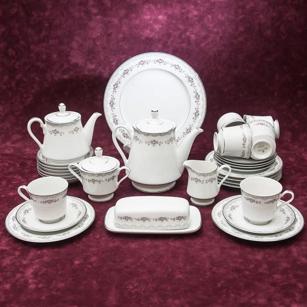 Чайный Фарфоровый Сервиз «ROSE СHINA» на 6-ть персон, 30 предмет, NORITAKE, Япония -1956 год.