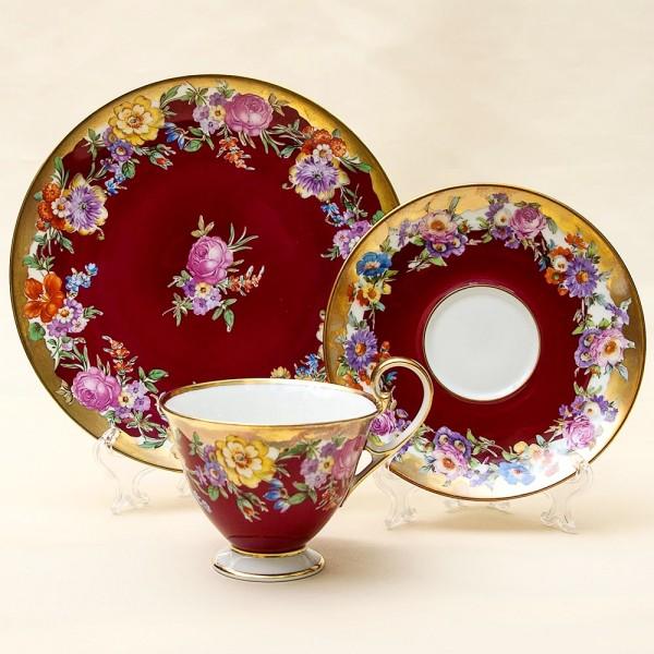 Коллекционная Чайная пара+Тарелка (Тройка) Фарфор Rudolf Wachter Германия 60 -е годы ХХ века.