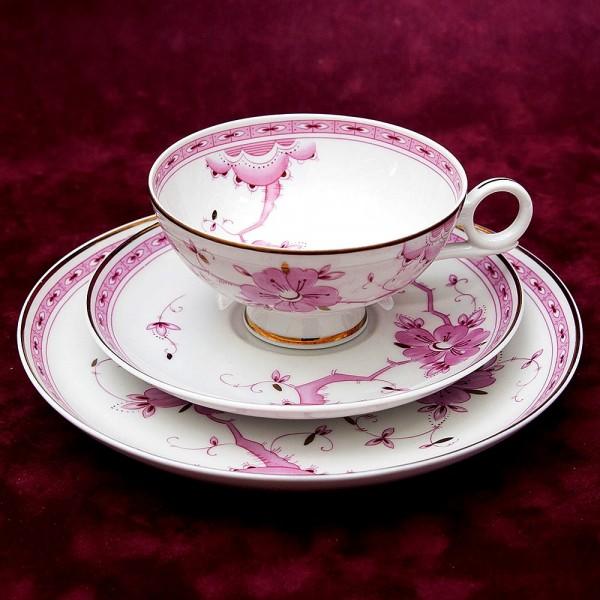 Коллекционная Чайная пара+Тарелка (Тройка) «Цветение сакуры» Фарфор WALLENDORF, Германия -1963 год.