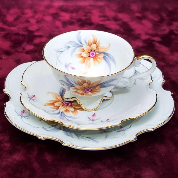 Коллекционная Чайная пара+Тарелка (Тройка) Фарфор Hutschenreuther Германия -1925-39гг.