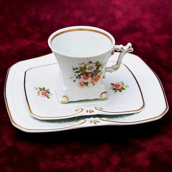 Коллекционная Чайная пара+Тарелка (Тройка) Фарфор GEROLD Porzellan, Германия 50 гг.