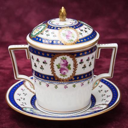 Редкость! Коллекционная Классическая Чашка для Шоколада Фарфор SP Dresden Германия.