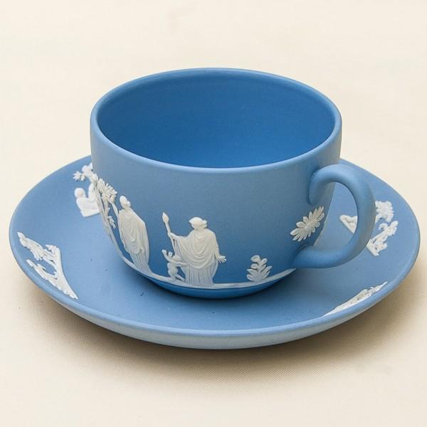 Коллекционная Чайная Пара «Античные Нимфы» фарфор ВЕДЖВУД, WEDGWOOD, Англия -70гг.