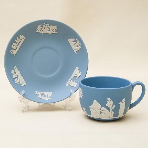 Коллекционная Чайная Пара «Античные Богини» фарфор ВЕДЖВУД, WEDGWOOD, Англия -70гг.