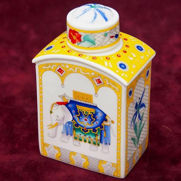 Коллекционная Фарфоровая Чайница «ВЕНЕЦИАНЦЫ» Hutschenreuter, Германия 70 -е годы ХХ века.