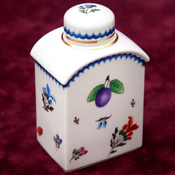 Фарфоровая Чайница - Вазочка - Баночка с крышкой RICHARD GINORI, Италия, 70 -е годы ХХ века.